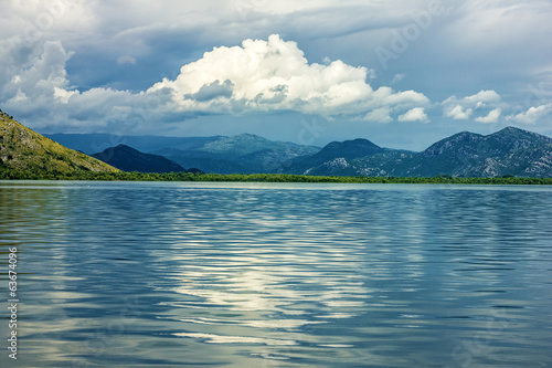 Skadar lake evening landscape, Montenegro