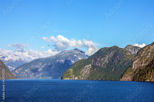 Norwegian fjords - seascape, Norway.