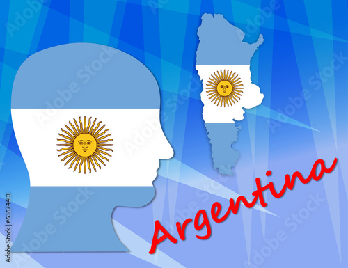 Argentinian symbols, map and population