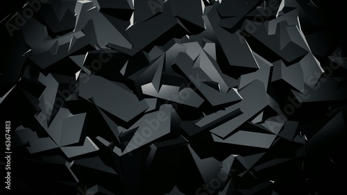 Abstract ridged surface in black color
