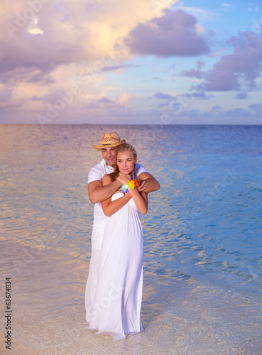 Romantic date on the beach
