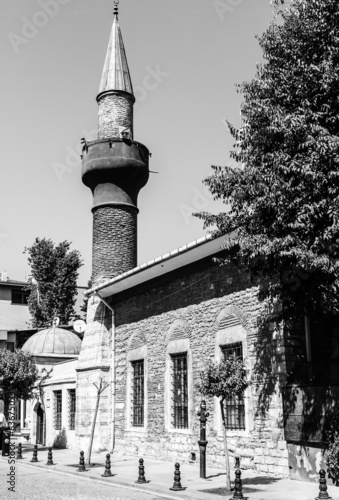 old mosque, wooden house