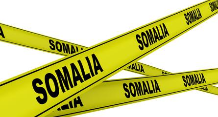 Сомали (Somalia). Желтая оградительная лента