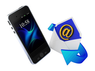 E-mail and smartphone