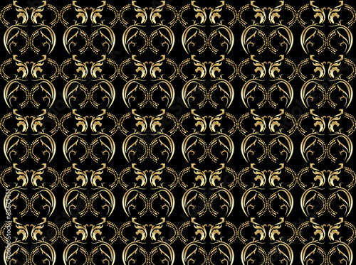 background pattern golden