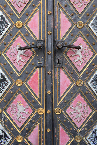 Fragment of door of the cathedral