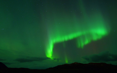 Northern lights over Northcape.  October 08, 2013