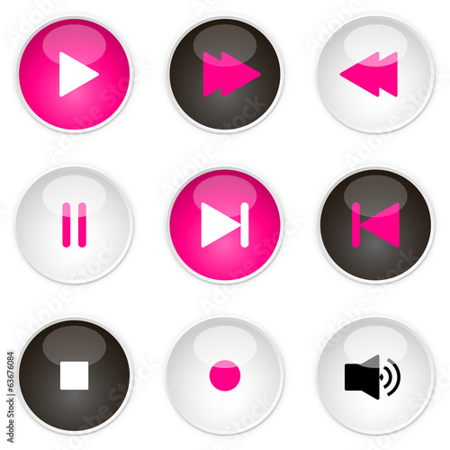 Media player icons
