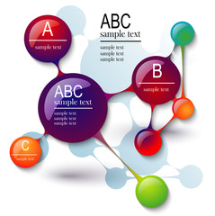infographics molecule