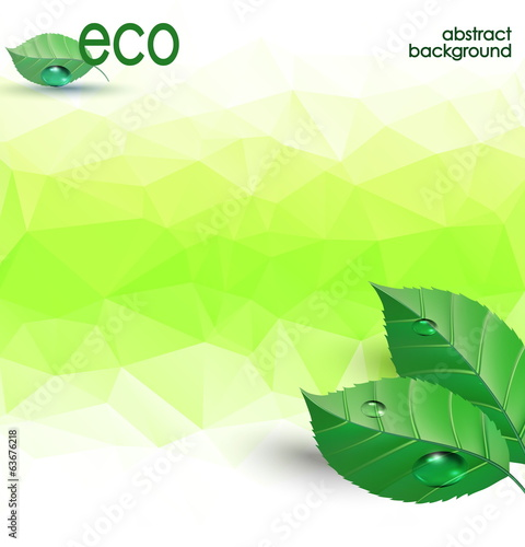 eco polygonal background