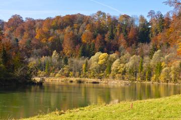 Herbst an der Isar, Bayern, Deutschland, Autumn at the Isar, Bav