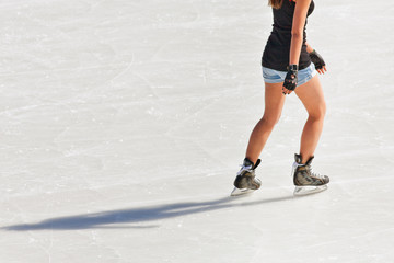 People at the ice rink
