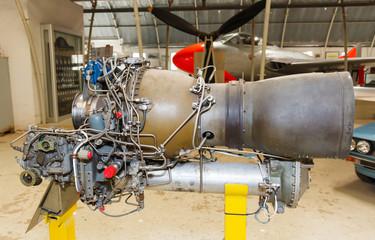 jet engine close-up
