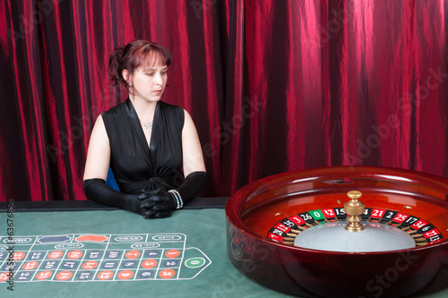 Sexy young woman in casino