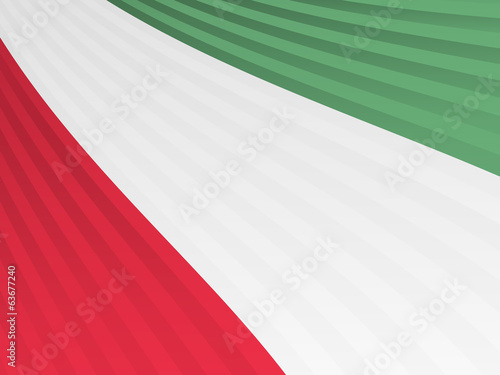 Abstract red white green stripes flag