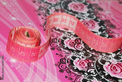 Pink measuring tape