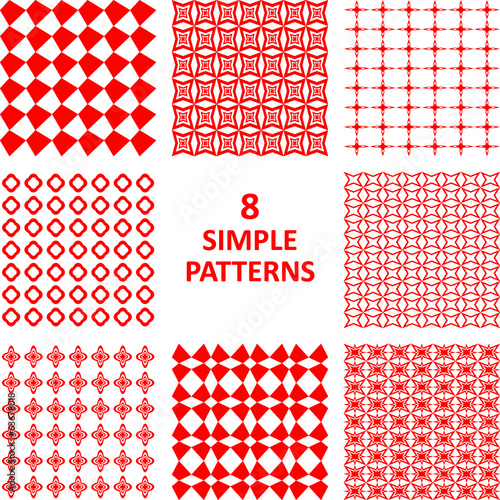 Red abstract pattern collection