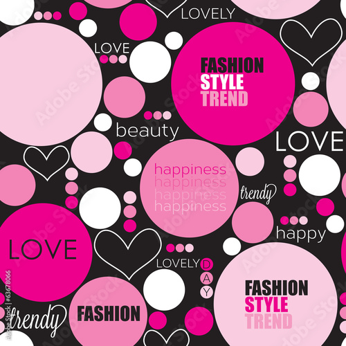 dots fashion love pattern vector illustration