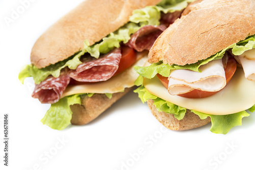 sandwiches on white