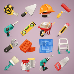 Construction Icons Set1.1 With Clipping Paths
