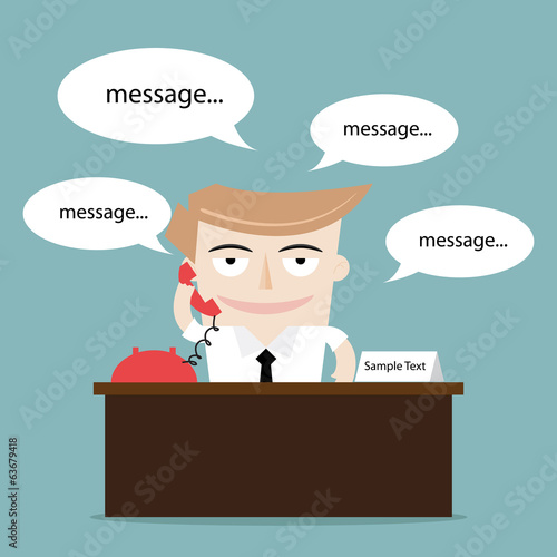 businessman talking using phone