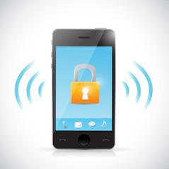 secure mobile online connection illustration