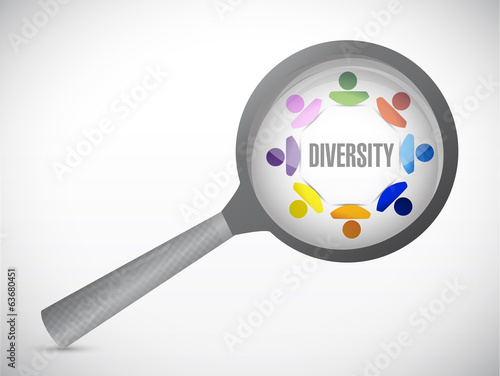 diversity under review. illustration design