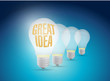 bright great idea illustration design