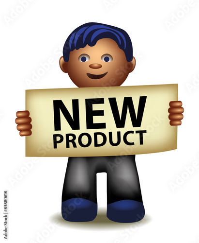 New product funny cartoon manager