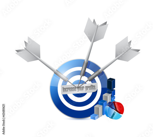 target profit increases. illustration design