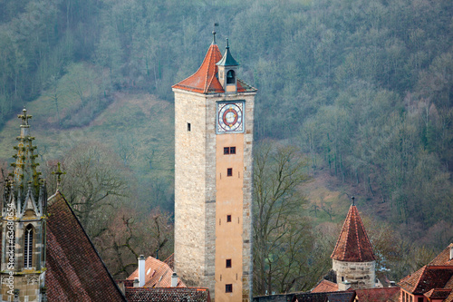Castle tower of Rothenburg ob der Tauber