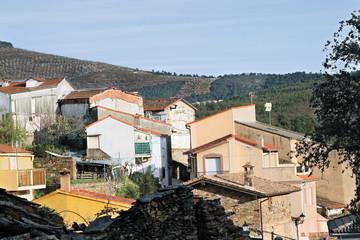 Vista parcial de Sauceda, Hurdes, España