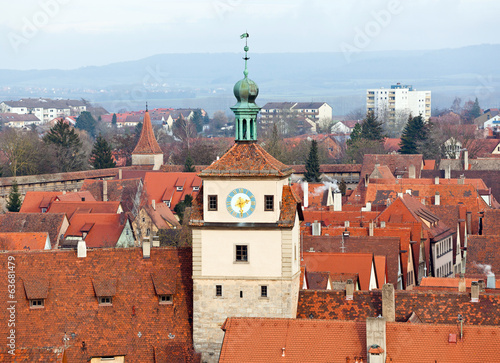Historic tower in Rothenburg ob der Tauber