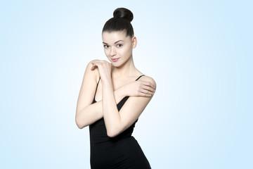 Beautiful young brunette woman - perfect body
