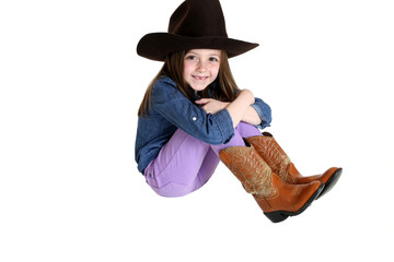 cute cowgirl with a big smile and missing front teeth