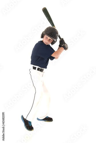 young left handed baseball player batting