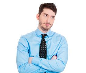 Grumpy, annoyed, unhappy, business man