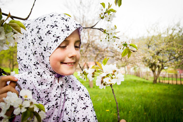Little muslim girl