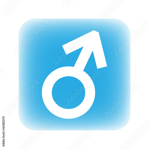 Gender male symbol button