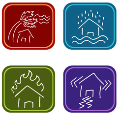 House Damage Icons