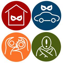 Crime Alert Icons