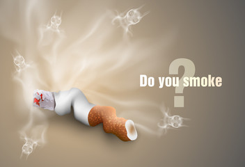 smoking cigarettes. anti smoking concept