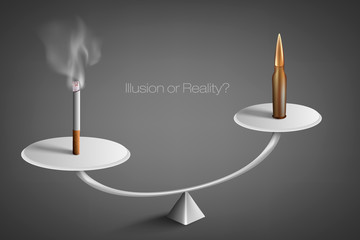 smoking cigarettes. anti smoking concept
