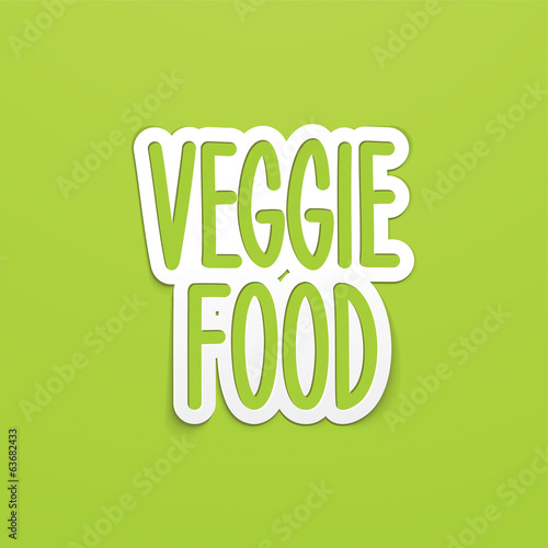 veggie food hand written lettering calligraphy. Vector