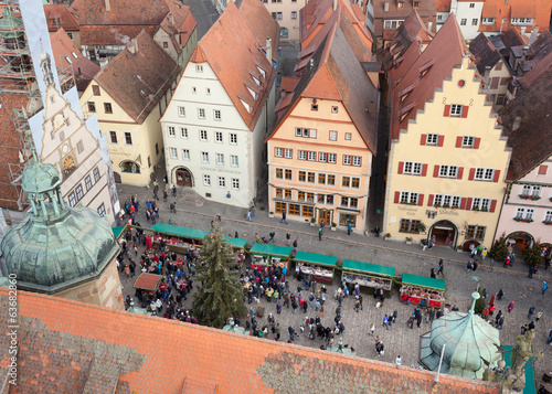 Christmas Market square of Rothenburg ob der Tauber