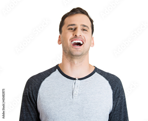 Happy laughing young man