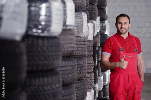 mechanic and tires