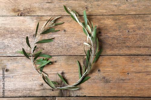 Foto op Plexiglas Olijfboom Olive tree wreath