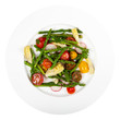 Delicious Fresh salad with asparagus, artichoke and tomatos