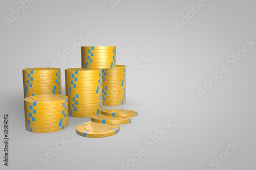 Poker Chips - Yellow